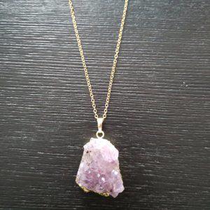 Jewelry - Amethyst Druzy Quartz Necklace